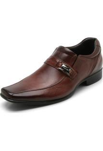 Sapato Social Couro Rafarillo Texturizado Caramelo