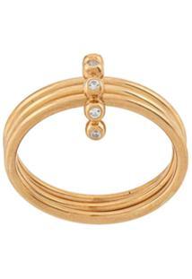 Astley Clarke Anel Triple Stilla Arc Banhado A Ouro 18Kt - Dourado