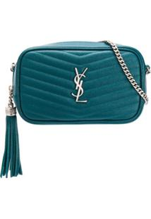 Saint Laurent Lou Crossbody Bag - Azul