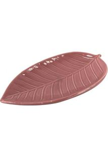 Enfeite Folhagem- Rosa Escuro- 18X9,5Cm- Full Fifull Fit