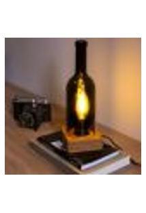 Luminária Ecolamp 3 (Garrafa E Madeira) - Bivolt