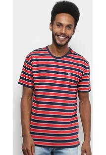 Camiseta Tommy Jeans Bold Stripe Tee Masculina - Masculino-Azul+Preto