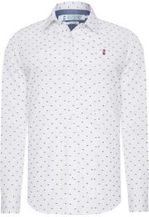 Camisa Masculina Navalhada - Branco