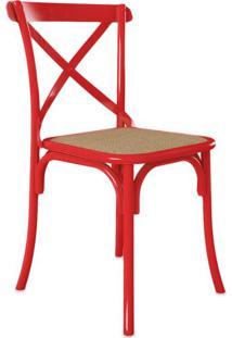 Cadeira De Jantar Katrina Vermelha