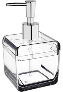 Porta Sabonete Líquido Cube 330Ml Cristal