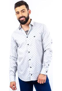 Camisa Lupim Slim Fit Branco Grey