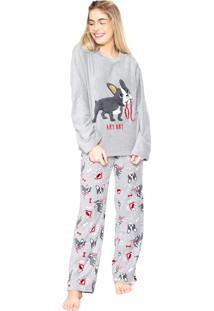 4c524b4eb123a4 Pijama Any Any Dog Cinza