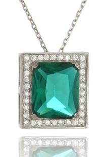 Colar Le Diamond Com Zircônia Verde Turmalina - Tricae
