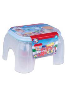 Brinquedo De Atividades - Banquinho Com Blocos - Coti Block - Cotiplás