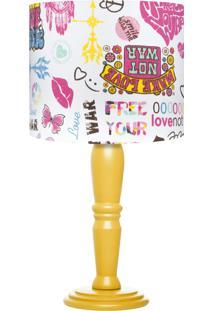 Abajur Make Love Colorido Carambola