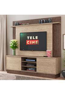 Estante Para Tv Com Duas Portas Home Decibal - Freijó/Acácia - Multistock
