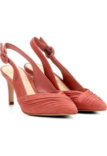 Scarpin Couro Capodarte Salto Alto Chanel Feminino - Feminino-Rosa