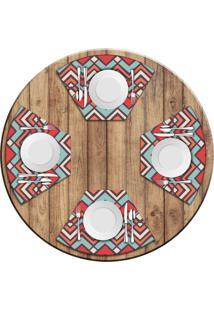 Jogo Americano Love Decor Para Mesa Redonda Wevans Abstract Color Kit Com 4 Pçs