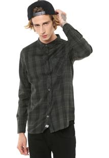 Camisa Element Reta Keytone Verde/Preta