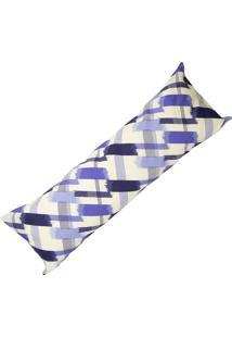 Capa De Travesseiro Rafaela Estampado Xadrez Azul Enxovais Aquarela