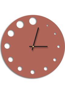 Relógio De Parede Decorativo Premium Cobre Metalizado Com Detalhes Vazado Médio