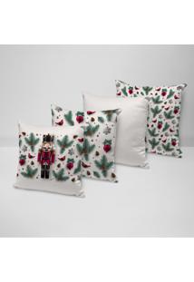 Kit 4 Almofadas Decorativas Quebra Nozes 35X35Cm