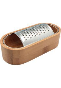 Ralador De Mesa Com Recipiente De Bambu - Oikos