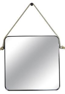 Espelho Quadrado Quadris Cor Preto 80 Cm (Larg) - 43549 - Sun House