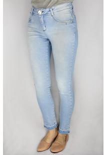 Calça Jeans Feminina Instinto Skinny Azul Claro - 42