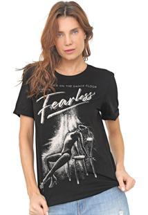 Camiseta Dimy Estampada Preta