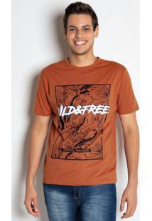 Camiseta Wild Free Ferrugem