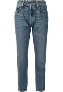 Golden Goose Calça Jeans Reta Cropped - Azul