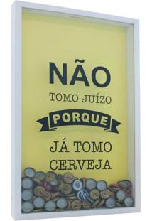 Quadro Porta Tampinhasjuizo 30X50X5 Bco