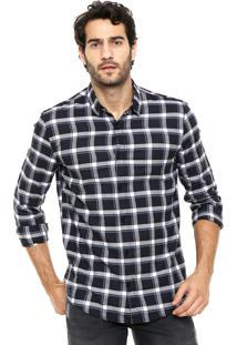 Camisa Calvin Klein Jeans Xadrez Preto