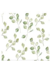 Papel De Parede Stickdecor Adesivo Folhas Verdes 100Cm L X 300Cm A