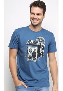 Camiseta Forum Music Masculina - Masculino-Azul Escuro
