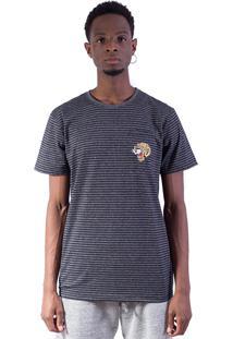 Camiseta Shivoo Comfort Stripe Tiger Grafite