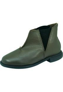 Bota S2 Shoes Sara Couro Verde Militar