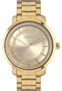 Relógio Euro Casual Shine 4D 43Mm Aço Feminino - Feminino-Dourado