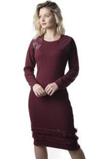 Vestido Midi Jéssi Tricô Feminino - Feminino