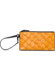 Carteira Mini Pouch Textura Osklen - Amarelo