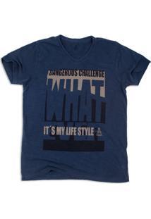 Camiseta Dangerous Challenge Dakar Azul