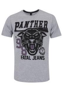 Camiseta Fatal Estampada 17749 - Masculina - Cinza Claro