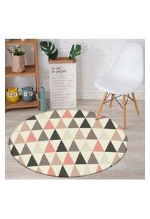 Tapete Redondo Wevans Multi Triângulos 94Cm