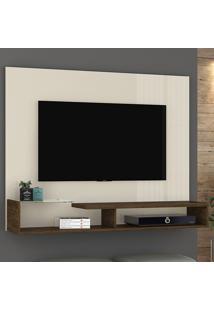 Painel Para Tv Estéla 267122 Off White/Savana - Madetec