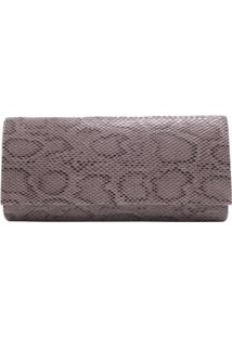 Bolsa Clutch Animal Print Cobra - Feminino