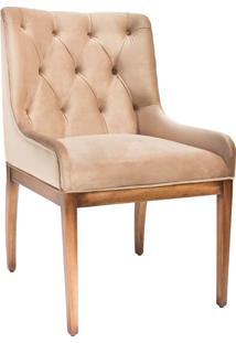 Cadeira Pedro Com Capitonê Madeira Maciça Design Clássico Avi Móveis