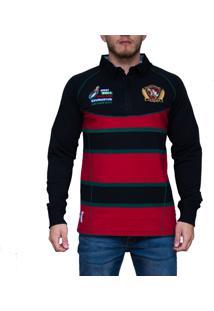 Blusa Kevingston Brown Rugby Vermelho Ii Listrado