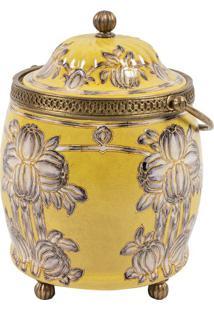 Vaso Decorativo De Porcelana Yellow