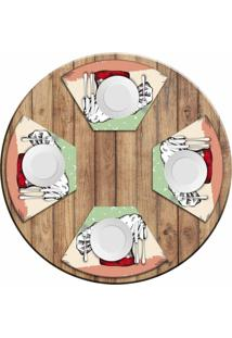 Jogo Americano Love Decor Para Mesa Redonda Wevans Italian Kit Com 4 Pçs