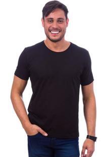 Camiseta Masculina Preta Lisa - P