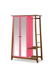 Armario Multiuso Stoka 2 Portas Pink Estrutura Amendoa 169Cm - 60975 Preto