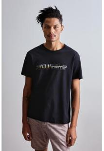 Camiseta Reserva Est Dupla Face Icone Night - Masculino-Preto