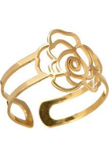 Anel Em Ouro Amarelo 18K - Divas Flor 2