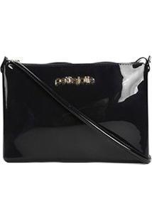 Bolsa Petite Jolie Mini Bag Verniz Feminina - Feminino-Preto